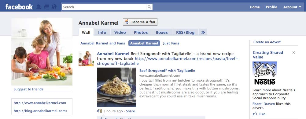 Annabel Karmel fan page