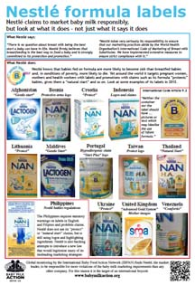 Nestle formula labels
